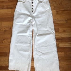 Shop zoco flared white jeans